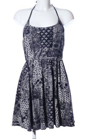 Billabong Halter Dress black-white mixed pattern casual look