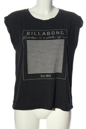 Billabong T-shirt imprimé noir-gris clair imprimé avec thème