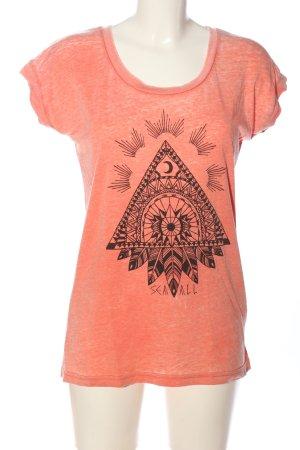 Billabong Print-Shirt pink-schwarz Motivdruck Casual-Look