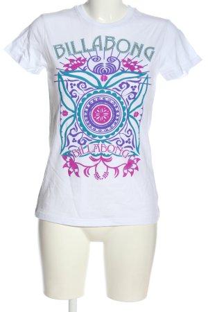 Billabong Print-Shirt abstraktes Muster Casual-Look