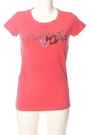 Billabong Print-Shirt pink-hellgrau Schriftzug gedruckt Casual-Look