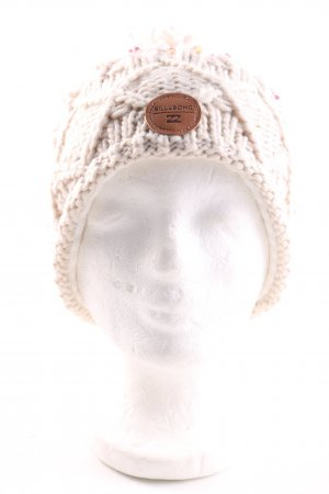 Billabong Bobble Hat natural white cable stitch casual look