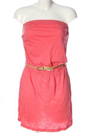 Billabong Sukienka bez ramiączek różowy Tkanina z mieszanych włókien