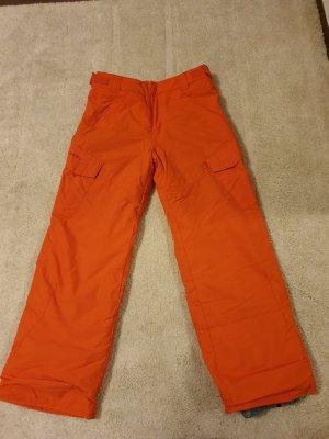Billabong Pantalón de esquí naranja neón