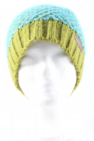 Billabong Knitted Hat green-turquoise cable stitch casual look