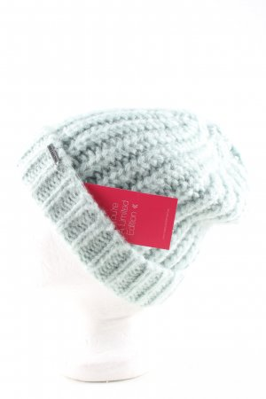 Billabong Chapeau en tricot turquoise torsades style décontracté