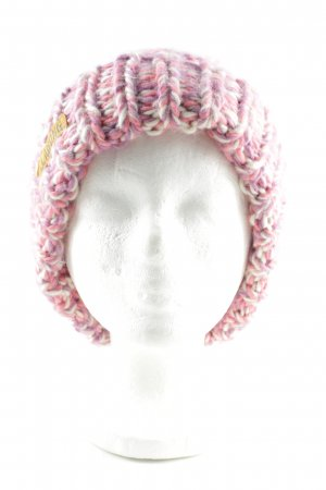 Billabong Knitted Hat pink-natural white cable stitch casual look