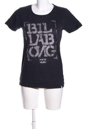 Billabong T-Shirt schwarz-hellgrau Allover-Druck Casual-Look