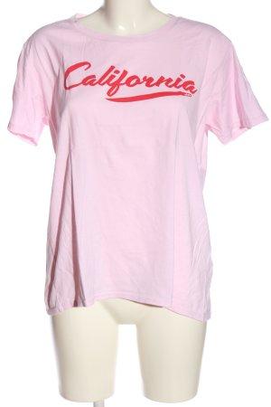 Billabong T-Shirt pink-rot Schriftzug gedruckt Casual-Look