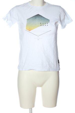 Billabong T-shirt blanc imprimé avec thème style décontracté