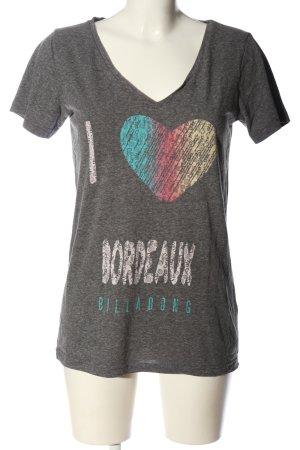 Billabong T-shirt gris clair moucheté style décontracté
