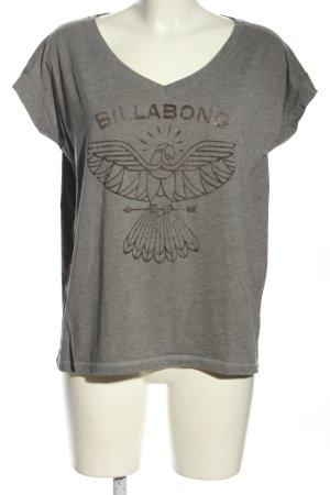 Billabong T-Shirt hellgrau-schwarz meliert Casual-Look