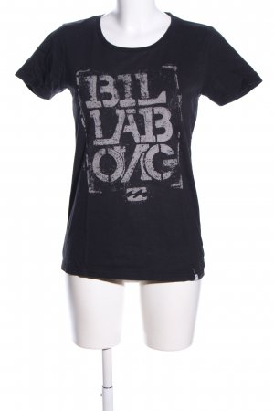 Billabong T-Shirt schwarz-hellgrau Allover-Druck Casual-Look