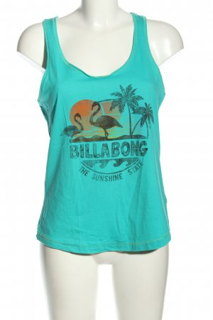 Billabong Tank Top turquoise themed print casual look