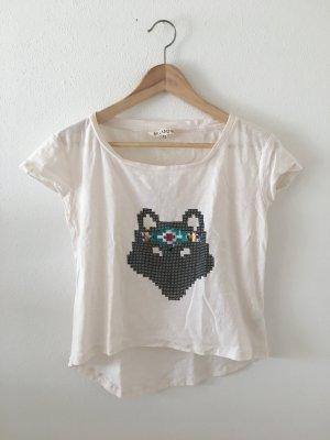 Billabong xs oversize weit crop Creme schwarz pink Rost Türkis Navy Pailletten Fuchs asymmetrisch Top Oberteil Shirt