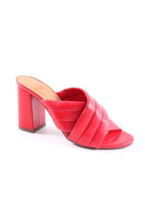 Billi Bi Mule à talon rouge style d'affaires