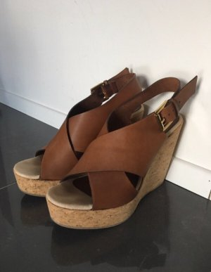 Billi Bi Sandalo con plateau marrone