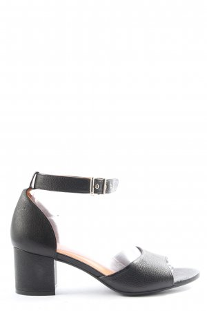 Billi Bi Peeptoe Pumps schwarz Casual-Look