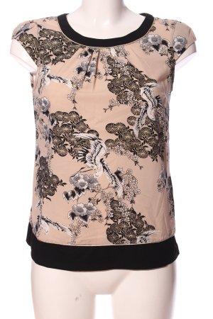 Billie & Blossom Kurzarm-Bluse Allover-Druck Casual-Look