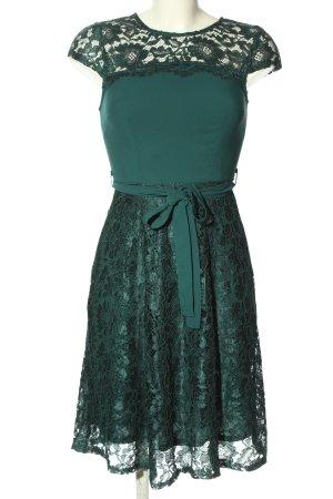 Billie & Blossom Sukienka z krótkim rękawem khaki-turkusowy Wzór w kwiaty