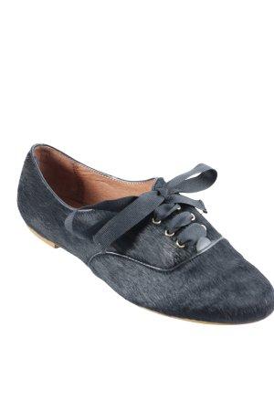 Bimba & Lola Sznurowane buty czarny Elegancki