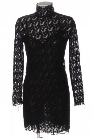 Bimba & Lola Koronkowa sukienka czarny Tkanina z mieszanych włókien