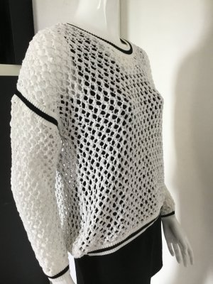 Bimba & Lola Crochet Sweater white viscose