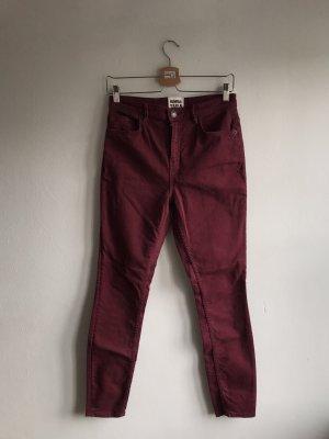 Bimba & Lola Slim jeans bordeaux-braambesrood