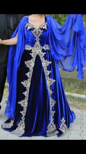 Bruidsjurk blauw