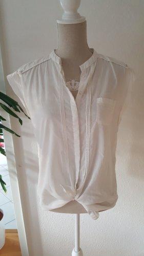 Opus Blusa de cuello alto blanco