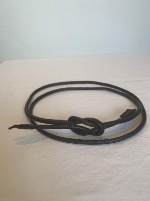 Faux Leather Belt dark brown