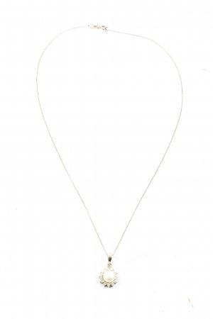 Binder Collier Necklace silver-colored-natural white elegant