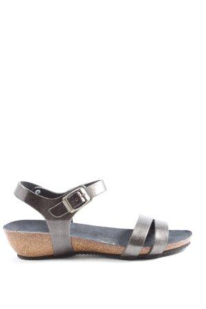 Bio comfort Sandalo toe-post argento stile casual