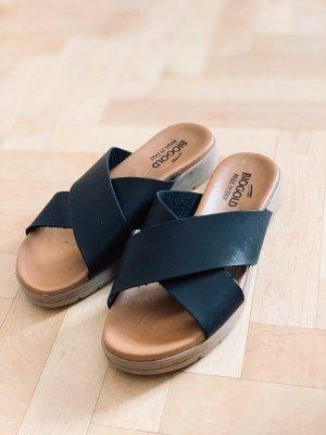 Biogold Leder Sandalen schwarz Riemen 37