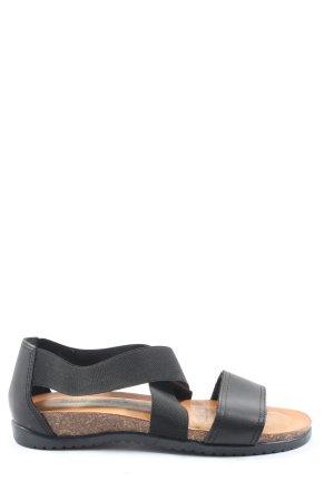 bionatura Sandalias cómodas negro look casual