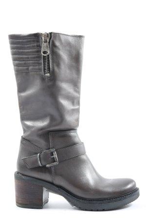 Biondini Heel Boots light grey casual look