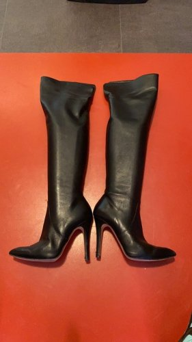 Biondini Overknees black leather
