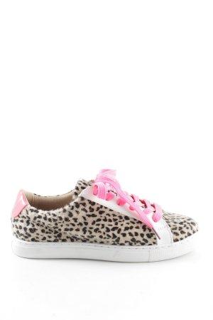 Biondini Lace-Up Sneaker leopard pattern casual look