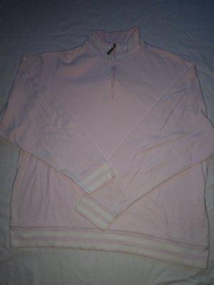 Birge H. Pull marin rose clair-blanc coton