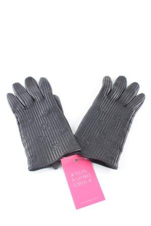Birger et Mikkelsen Leren handschoenen zwart quilten patroon casual uitstraling