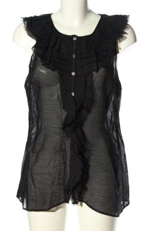 Birger et Mikkelsen Blusa trasparente nero elegante