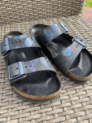 Birkenstock Comfortabele sandalen zwart-donkerblauw