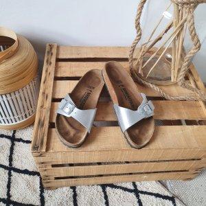Birkenstock Comfortabele sandalen zilver-bruin