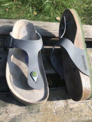 Birkenstock Entre-doigt gris-vert clair