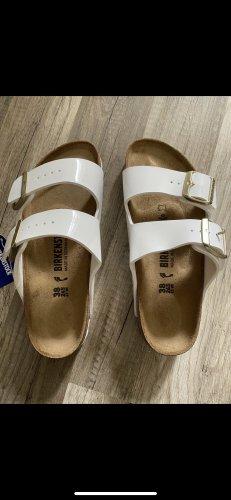 Sandalias para uso en exteriores blanco