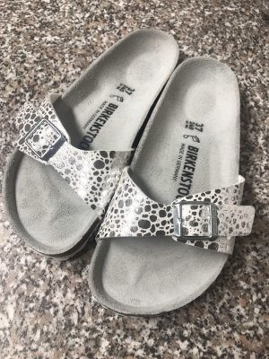 Birkenstock Comfort Sandals white-silver-colored