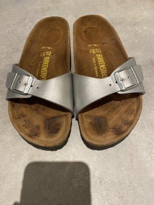 Birkenstock Sandalo comodo argento-marrone chiaro