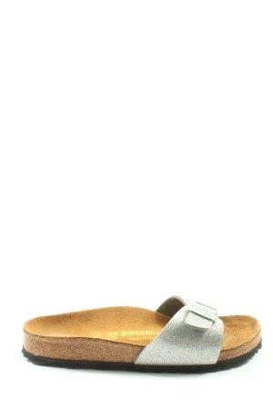 Birkenstock Sandały z rzemykami srebrny W stylu casual