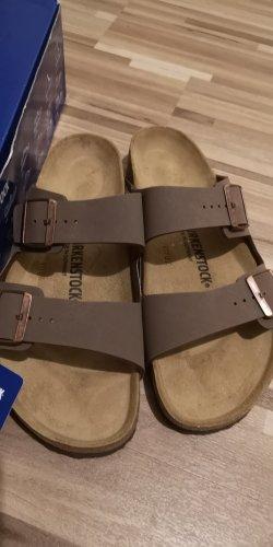 Birkenstock Wygodne sandały szaro-brązowy