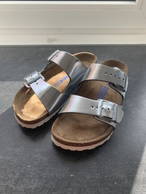 Birkenstock Strapped Sandals silver-colored